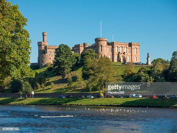 inverness castle on the river ness scotland - inverness stock photos and pictures