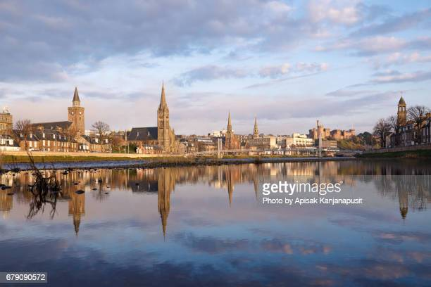 Inverness City before sunset