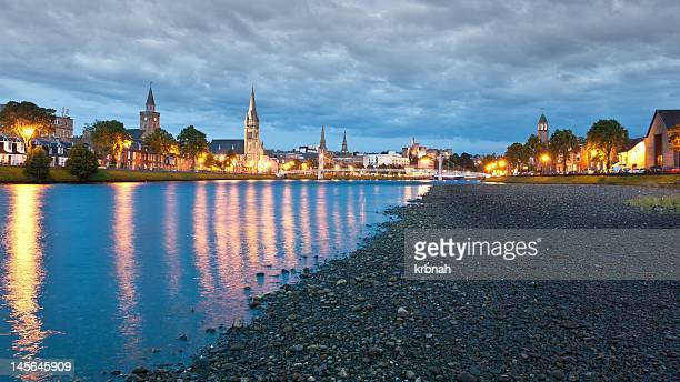 Inverness riverscape at night