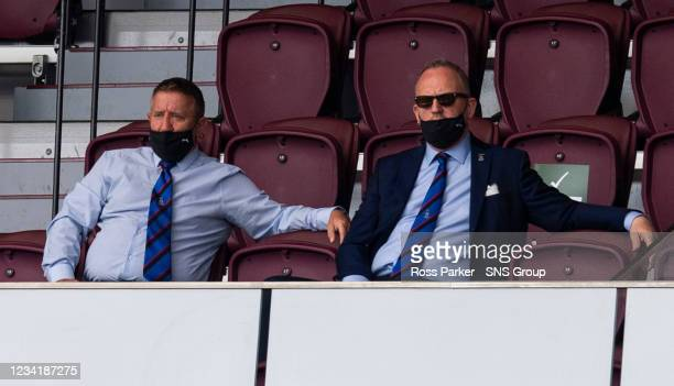Inverness Sporting Director John Robertson and CEO Scott Gardiner during a Premier Sports Cup tie between Hearts and Inverness Caledonian Thistle at...