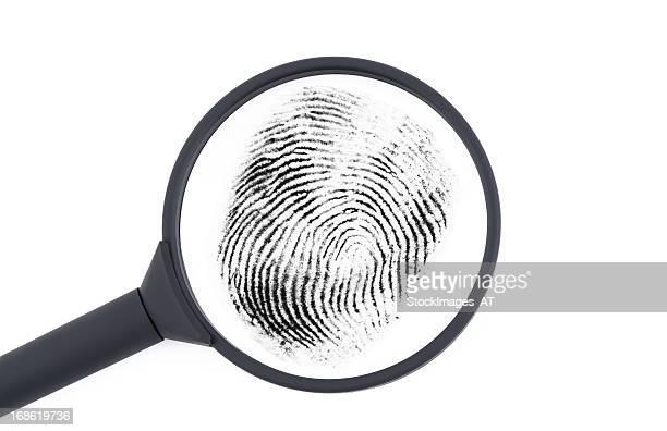 Untersuchung ein Fingerabdruck