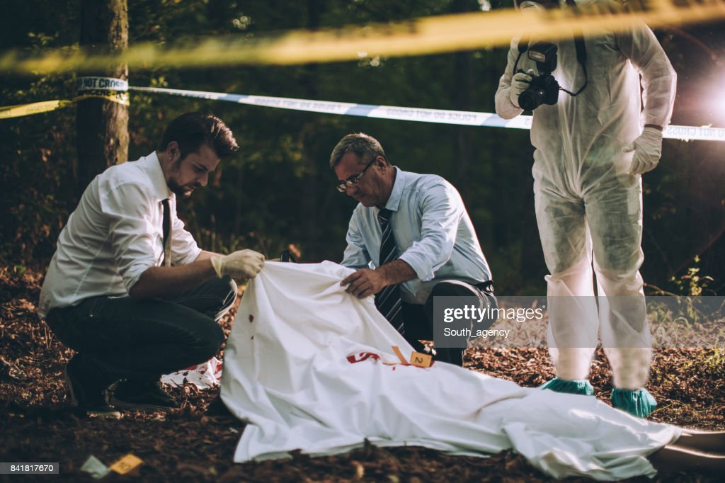 Investigation in progress : Stock Photo