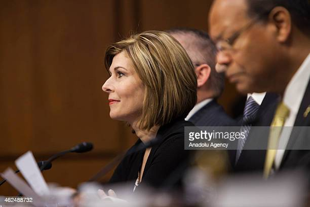 Investigative journalist Sharyl Attkisson testifies at the confirmation hearing for Loretta Lynch to replace US Attorney General Eric Holder by the...