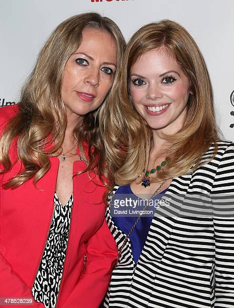 Investigative reporter Christine Pelisek and actress Dreama Walker attend a screening of the Lifetime original movie 'The Grim Sleeper' at the...