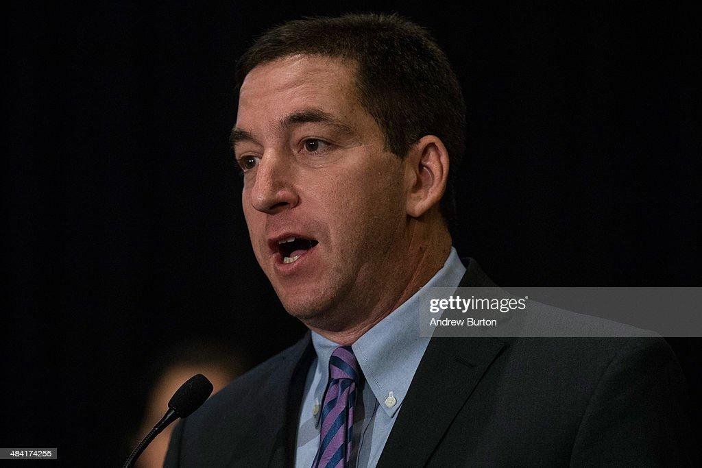 Journalists Glenn Greenwald And Lauren Poitras Receive A George Polk Award : News Photo