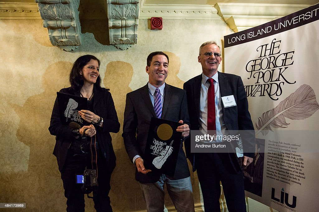 Journalists Glenn Greenwald And Lauren Poitras Receive A George Polk Award