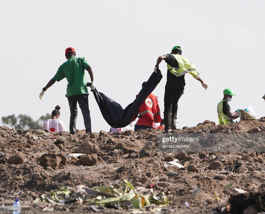 Investigators And Mourners Visit Ethiopia Crash Site : News Photo