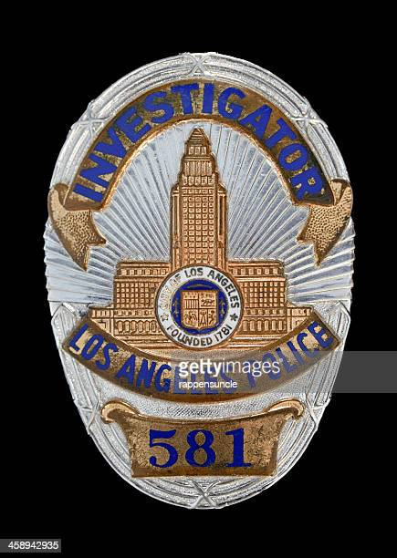 lapd investigator's badge - los angeles police department stock pictures, royalty-free photos & images
