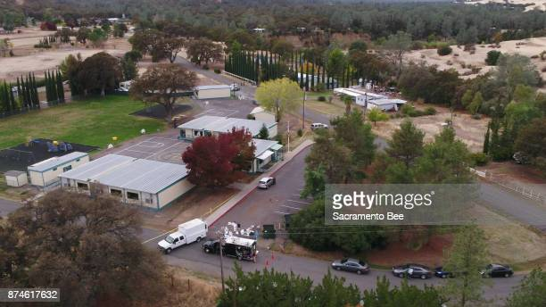 FBI investigators gather evidence at the Rancho Tehama Elementary School in Rancho Tehama Reserve in Corning Calif on Tuesday Nov14 2017