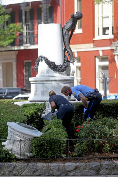 LA: Confederate Statues Vandalized In New Orleans