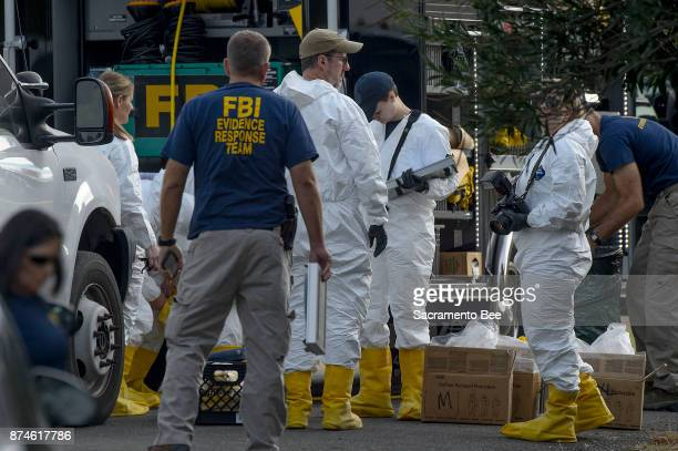 FBI investigators prepare to process evidence at the Rancho Tehama Elementary School in Rancho Tehama Reserve in Corning Calif on Tuesday Nov14 2017