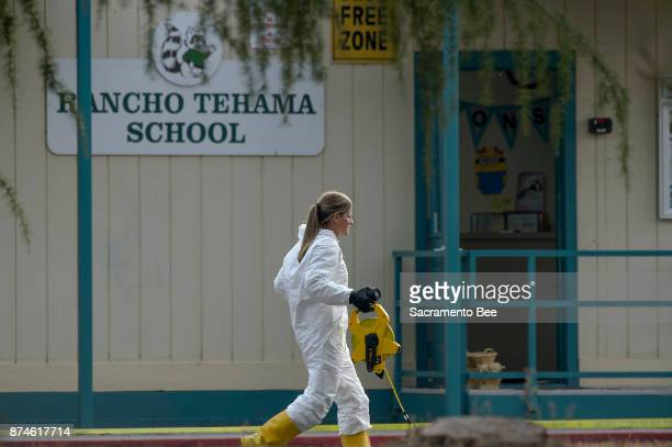 FBI investigators process evidence at the Rancho Tehama Elementary School in Rancho Tehama Reserve in Corning Calif on Tuesday Nov 14 2017