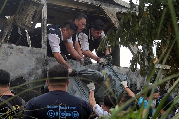 26 dead in Taiwan tourist bus crash Photos and Images