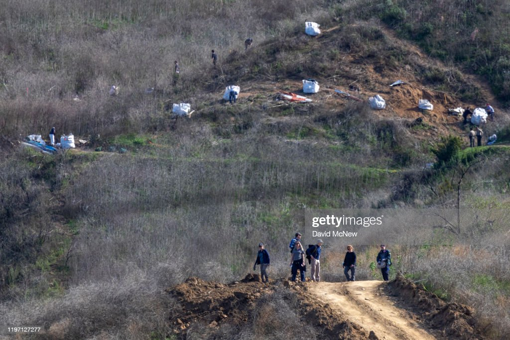 NTSB Investigators Continue To Work On Site Of Kobe Bryant's Helicopter Crash : News Photo