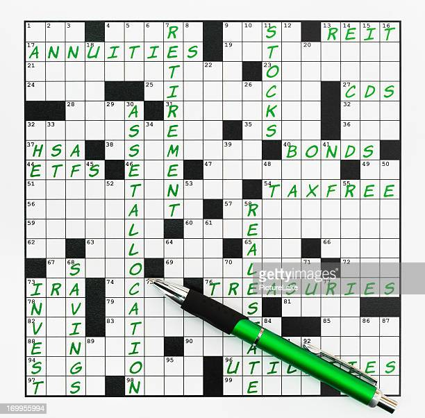 Investing-themed crossword puzzle