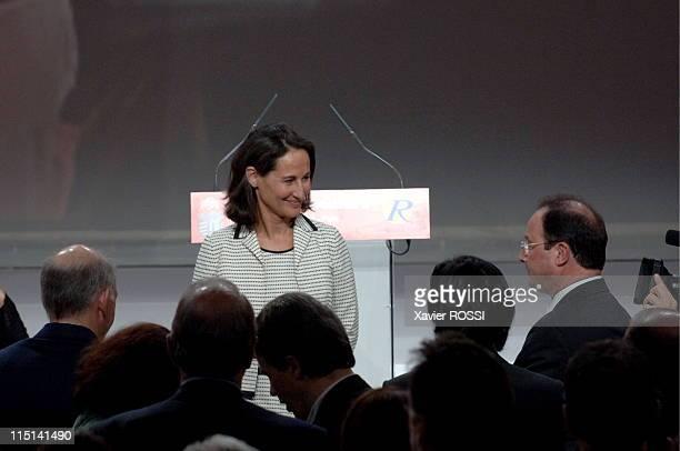Investiture congres of Segolene Royal in mutuality in Paris France on November 26 2006 Francois Hollande and Segolene Royal