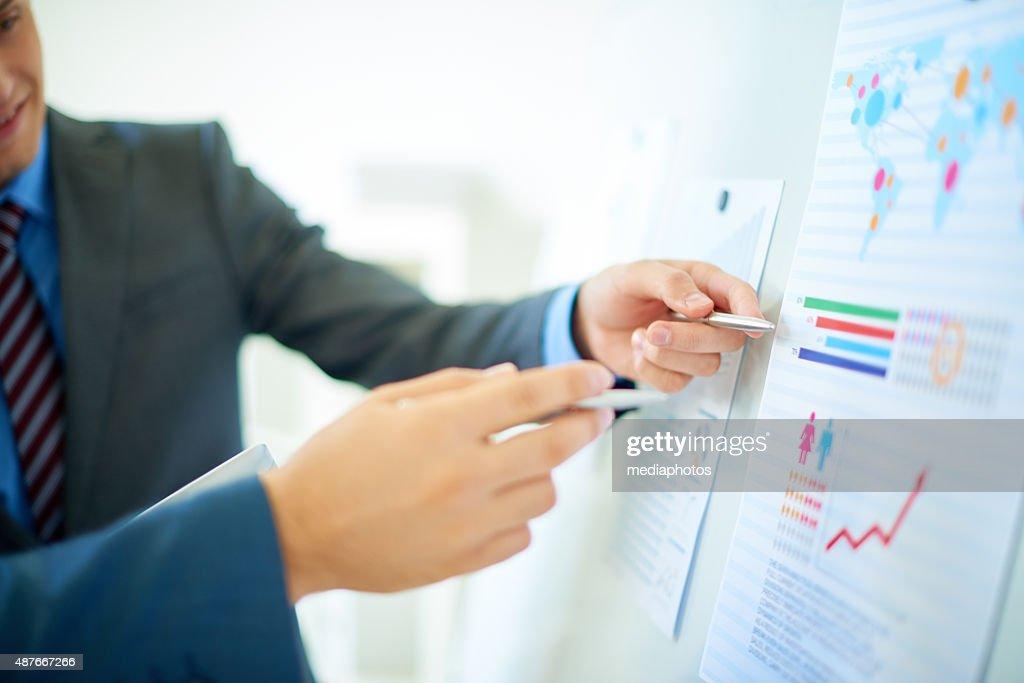 Investment analysis : Stock Photo
