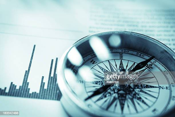investment guidance - compass stock pictures, royalty-free photos & images