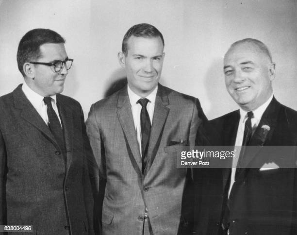 Investment Men Name Officers Left to Right Thomas P Owen J William Sorensen Paul W Gorham Credit Denver Post