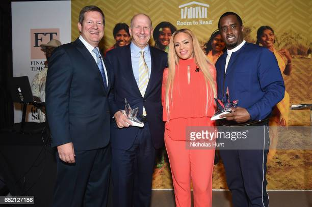 CEO HPS Investment Partners Scott Kapnick President and CoCOO of Goldman Sachs and honoree David M Solomon musical artist Faith Evans and honoree...