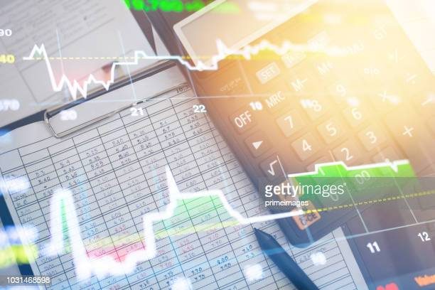 investment theme stockmarket and finance business analysis stockmarket with digital tablet - interest rate stock pictures, royalty-free photos & images