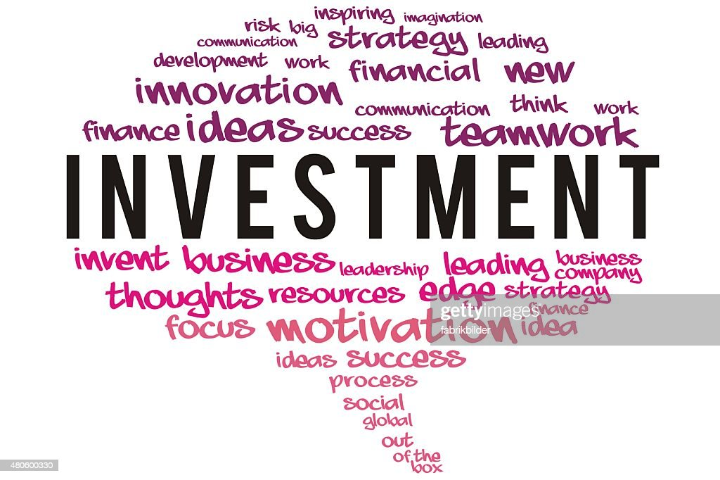 Investment wordcloud concept : Stock Photo