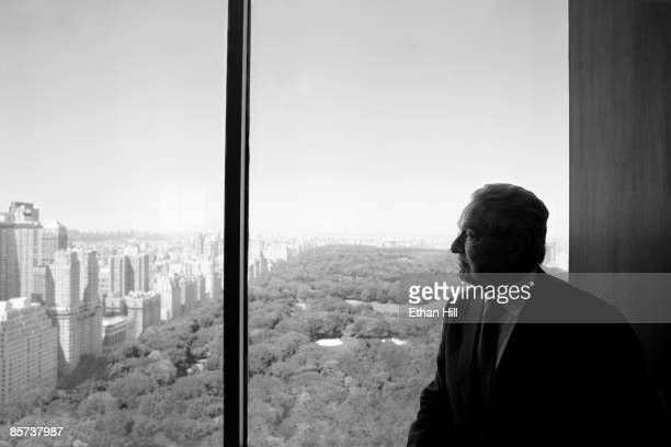 Investor and philanthropist George Soros poses at a portrait session in his office in New York City