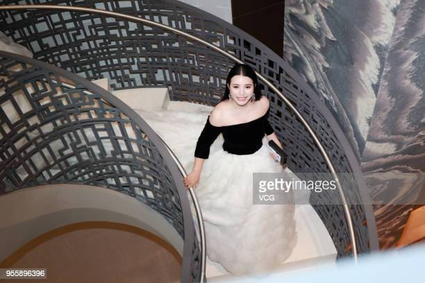 Investor and philanthropist Wendy Yu leaves the hotel to attend the Heavenly Bodies Fashion The Catholic Imagination Costume Institute Gala on May 7...