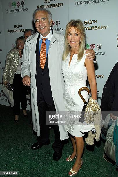 Investor Carl Icahn and wife Gail Golden attend the Four Seasons restaurant's 50th anniversary gala at the Four Seasons Hotel New York on June 11...