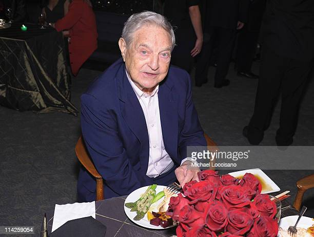 Investor George Soros attends the Too Big To Fail New York Premiere after party at the Four Seasons Restaurant on May 16 2011 in New York City