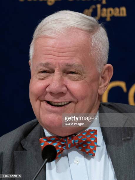Investor Jim Rogers attends a press conference in the Foreign Correspondents' Club of Japan in Tokyo. Jim Rogers speaks about his views of the...