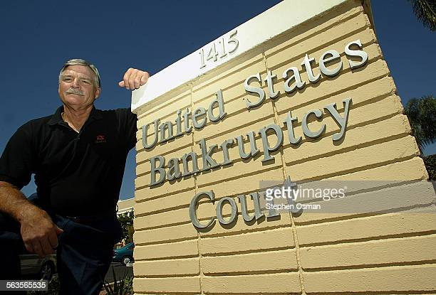 Investor John Poitras in front of the United States Bankruptcy Court in Santa Barbara CA When Reed Slatkin is sentenced Tuesday for operating a Ponzi...