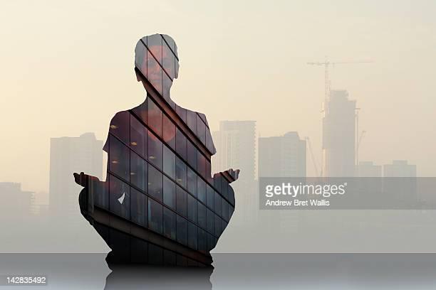 Investor meditates near commercial development