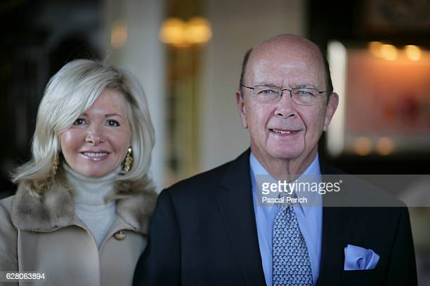 Investor Wilbur Ross is photographed with wife Hilary Geary for Financial Times on January 31 2007 in New York City