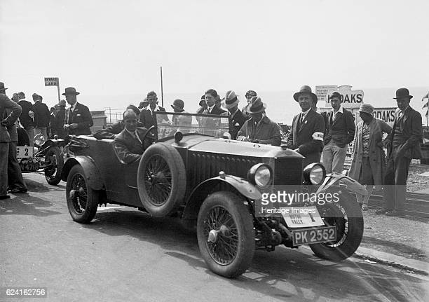 Invicta of DM Healey at the BHMC Brighton Motor Rally 1930 Artist Bill BrunellInvicta 4seat highchassis tourer 1928 4467 cc Vehicle Reg No PK2552...