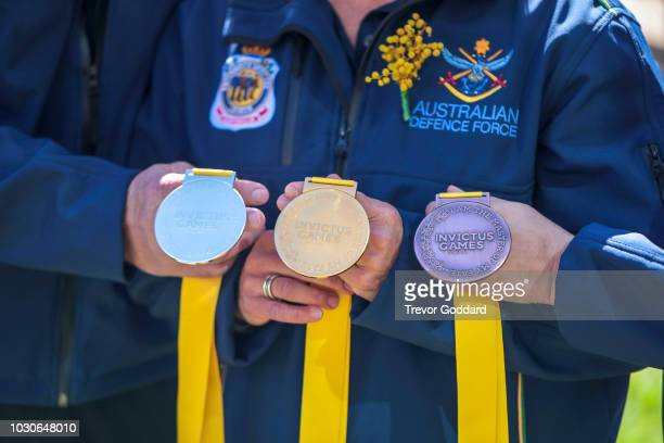 Invictus Games 2018 Medal Revealed during the Invictus Games Medal Reveal at The Rocks on September 4 2018 in Sydney Australia