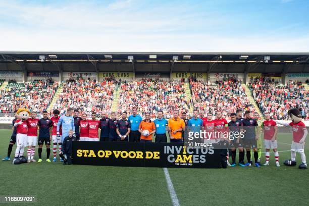 Invictus games promo during the Dutch Eredivisie match between AZ Alkmaar and Sparta Rotterdam at Cars Jeans stadium on September 14, 2019 in The...