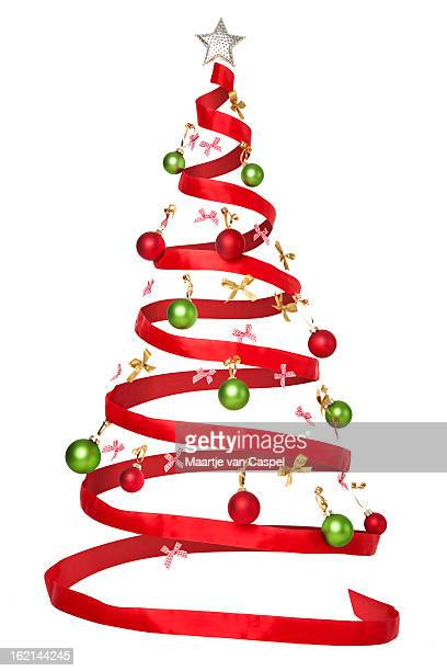 Invisible Christmas Tree with Red Ribbon