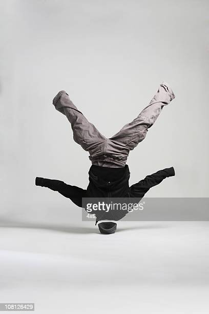Invisible Man Breakdancing and Spinning on Head