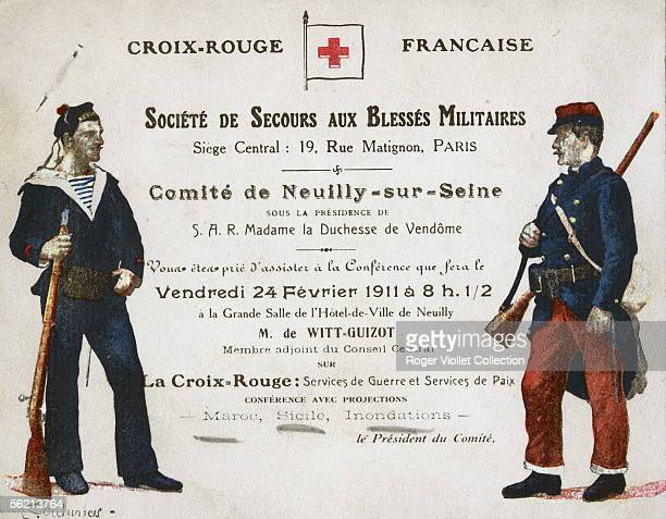 Invitation card of the French Red Cross Paris February 24 1911