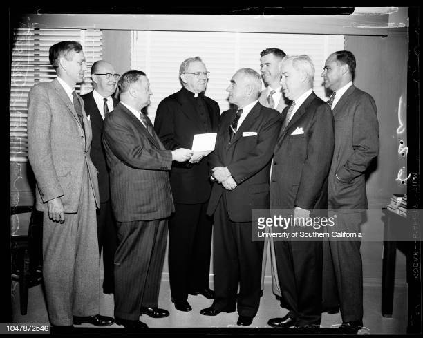Invitation to Cardinal to Banquet of Friendly Sons of St Patrick 08 February 1957 Bruce H McBirneyThomas C DeaneBernard J HanleyJames Francis...