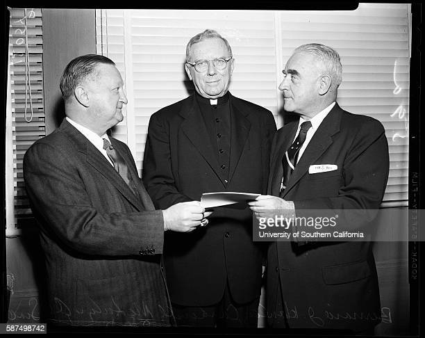 Invitation to Cardinal to Banquet of Friendly Sons of St Patrick at the California Club Bruce H McBirney Thomas C Deane Bernard J Hanley James...