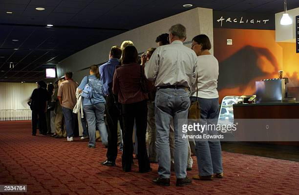 Invited guests line up outside of Theater 10 of the ArcLight Cinemas where a special screening of Runaway Jury was shown as part of the Variety...