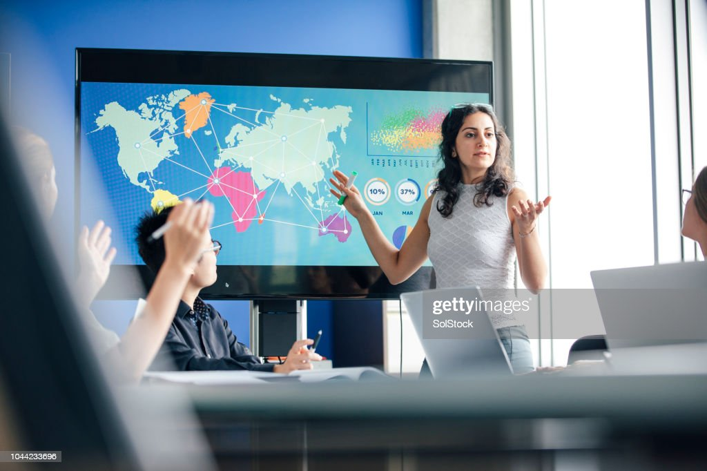 Inviting Questions, a True Leader. : Stock Photo