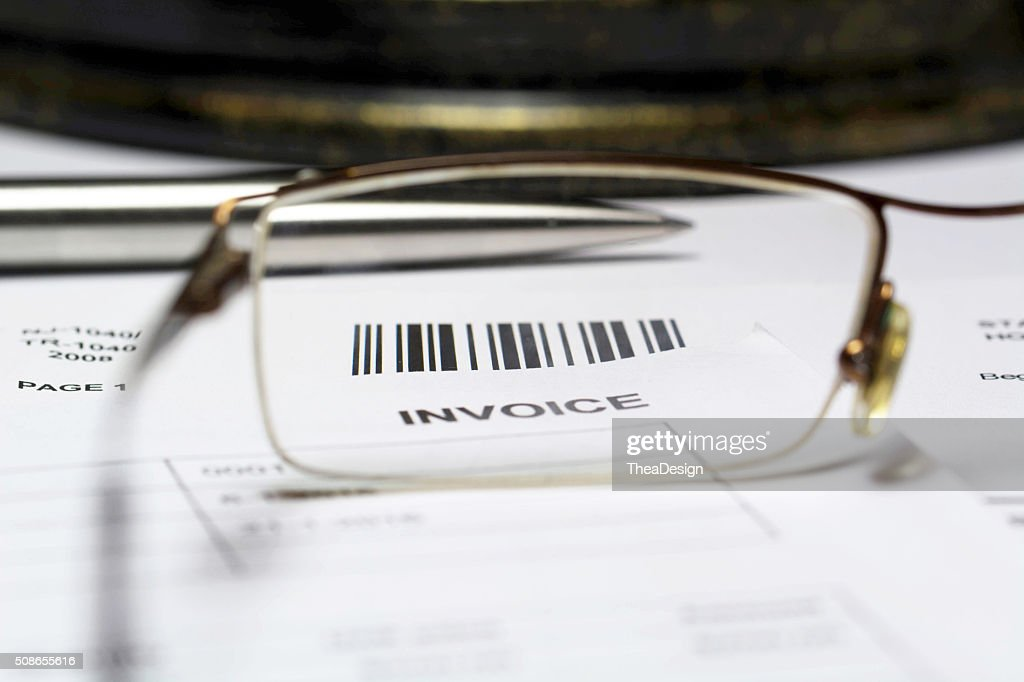 Invoice letter : Stock Photo