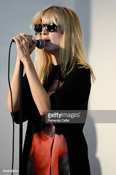 Io Echo performs at the Creatures of Comfort fashion show during MercedesBenz Fashion Week Spring 2015 at Pier 59 on September 4 2014 in New York City