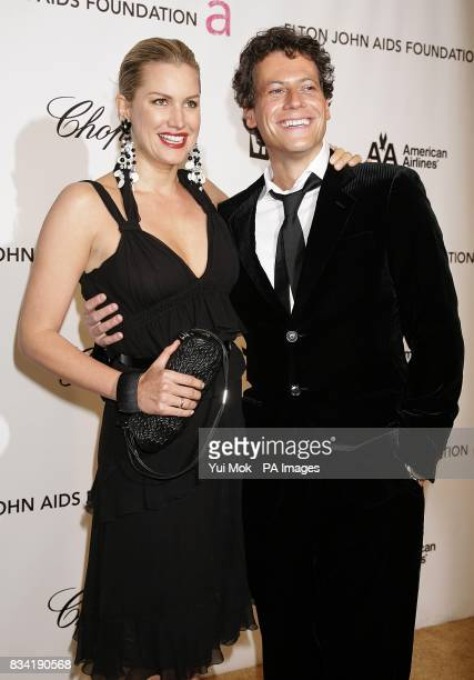 Ioan Gruffudd and Alice Evans arrive for the 16th Annual Sir Elton John AIDS Foundation Oscar Party at the Pacific Design Centre in Los Angeles