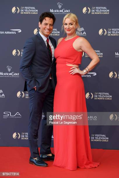 Ioan Gruffudd and Alice Evans attend the opening ceremony of the 58th Monte Carlo TV Festival on June 15 2018 in MonteCarlo Monaco