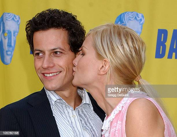 Ioan Gruffudd and Alice Evans during 10th Annual BAFTA/LA Tea Party at St Regis Hotel in Century City California United States