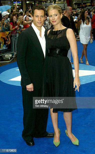 Ioan Gruffudd and Alice Evans during 'Fantastic Four' London Premiere at Leicester Square in London Great Britain